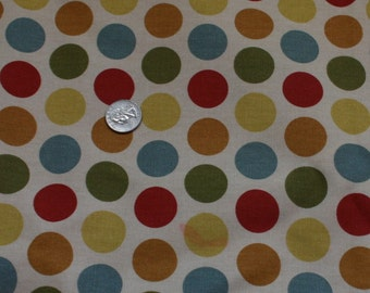 "Large Piece Polka Dot Upholstery Fabric Multi Color 3yds 33"" x 44"" Sewing Crafts"