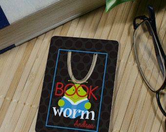 Personalized Bookworm Bookmark
