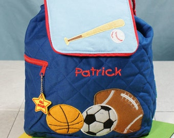 Personalized Sports Embroidered Quilted Backpack