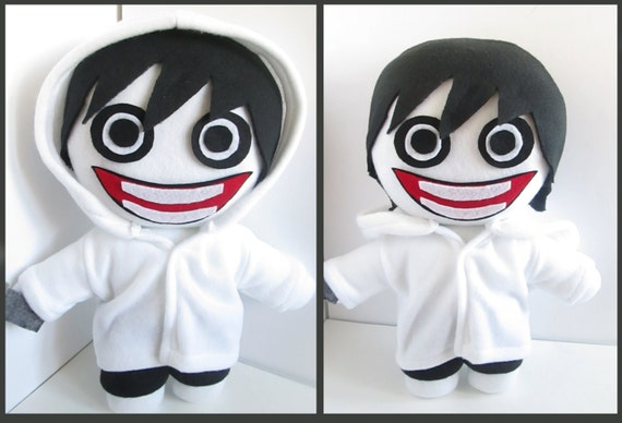 Jeff The Killer Plushie Inspired By Creepypasta