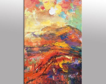 Abstract Painting, Landscape Oil Painting, Original Painting, Contemporary Art, Abstract Canvas Painting, Abstract Oil Painting, Large Art