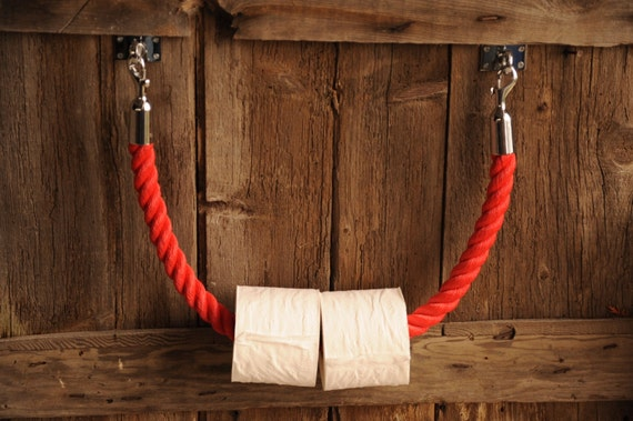 Paper Towel Holder - Toilet Roll Holder - Nautical Decor - Rope - Nautical Kitchen -