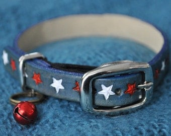 ME Selection Americana#3 Leather Cat Collar