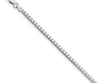 Sterling Silver 2.5 mm Box Chain (QBX050)