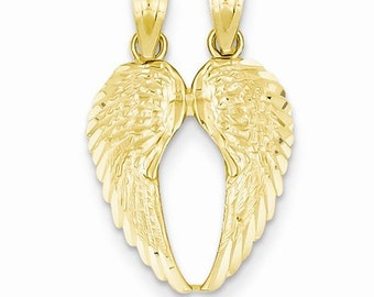 Break Apart Diamond-Cut Wings Pendant (JC-1101)