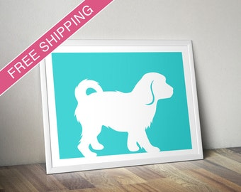 Cavachon Print - Cavachon Silhouette, dog portrait, modern dog home decor