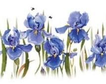 Iris Flower T SHIRT, Purple Iris Floral T SHIRT, ( Sweatshirt, Quilt Fabric Block, Tote Bag, Apron, Available On Request) #797b