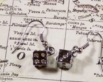 Roll The Dice Earrings,  Dice Earrings, Earrings, Dice, Gambling, Games, Casino, Gift For Her, Handmade