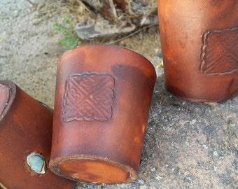 Leather Jigger...Leather shot glass...shotglass...jigger...Men's Gifts
