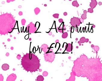 Any 2 A4 prints !