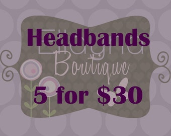 5 for 30, Non-Slip Headbands