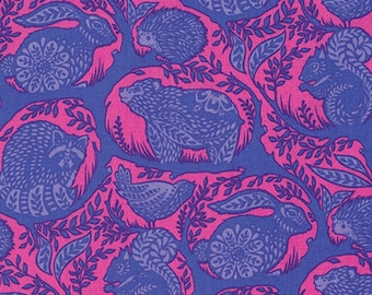One yard - 1 yard  - Grandstand - Blue Raspberry - SLOW AND STEADY by Tula Pink