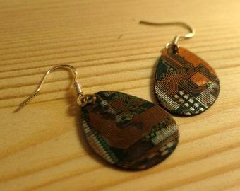 Tear: PCB earrings