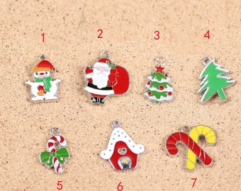 10 pcs of antique gold  christmas gift charm pendants