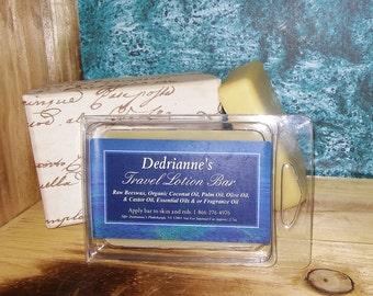 WHITE TEA & GINGER Travel Lotion: Organic/Christmas Gift/Solid Perfume/Pomade/Feet/Hair Moisturizer