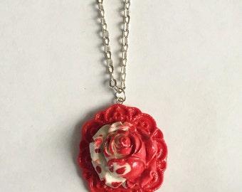 Rose Camio Necklace