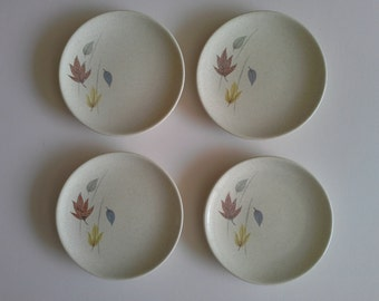 Franciscan Ware, Autumn Bread Plates, set 4.