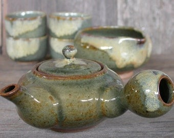 Japanese Pottery, Matcha Chawan, Tea Ceremony, Handmade Ceramics, Japanese Ceramics, Tea Set, Tea Pot, 4 Tea Bowls, Gifts, Made In Japan.