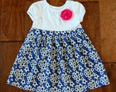 Sale! Dress on sale**Soccer dress**Toddler girls soccer dress**Soccer outfit**Soccer ball outfit girls**Sport dress**White blue dress