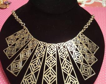 Geometric Statement Necklace Set
