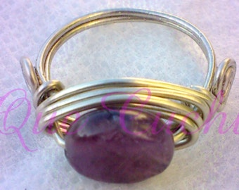 Silver Ring with an Amethyst stone
