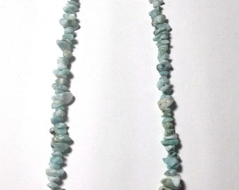 Larimar Stone chips necklace