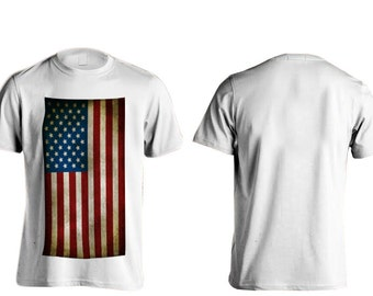 All American Apparal American Flag T-Shirts (Full Front)