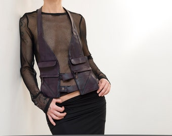 Soft leather fashion holster bag