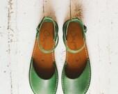 SALE 20% OFF: Green Sandals, Women Sandals, Handmade Women Sandals, Green Color, Summer Sandals, Women Sandals