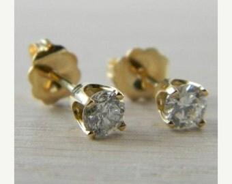 ON SALE Diamond 0.50 tcw. Butterfly Back Eye Clean Stud Earrings AN-D93