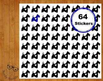 Scottish Terrier Planner Stickers, Scottish Terrier Stickers, 64 Dog Stickers, Scottish Terrier Envelope Seals, Scottish Terrier, Scotty Dog