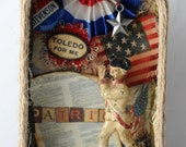 The Patriot Assemblage Art, 3D Art, Original Art, Found Object, Assemblage, Altered Tin