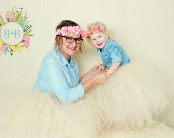 Mommy and Me Tutu Set, Maternity Tutu, Adult Tutu, Photoshoot Outfit, Girls Tutu, Full Length Tutu