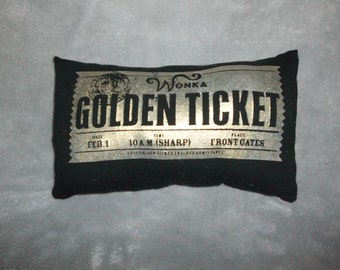 golden ticket t shirt pillow