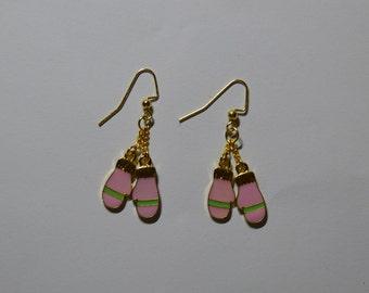 Pink Mitten Earrings