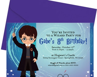 Harry Potter Party Invitation - Wizard Party - Digital