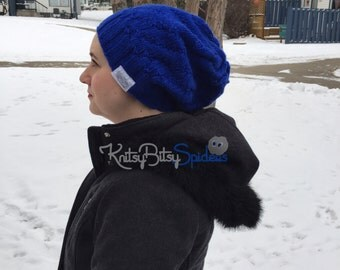 Big Blue Slouch Hat - READY TO SHIP