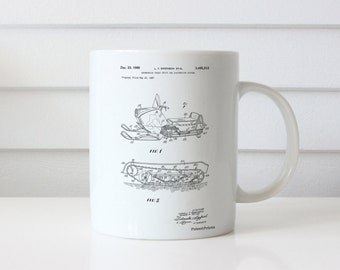 Snow Mobile Patent Mug, Winter Mug, Mountain Home Decor, Sports Mug, Garage Decor, Ski Lodge Decor, PP1046