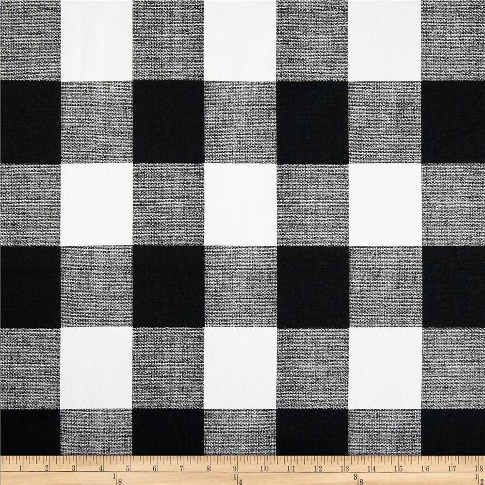 Ships Same Day Black And White Buffalo Check Fabric Designer