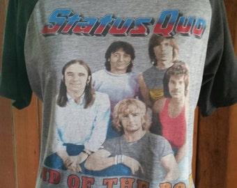 Vintage Status Quo 1984 tour shirt chest 110cm