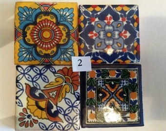 Mexican Tile Refrigerator Magnet Set of 4 strong neodymium #2