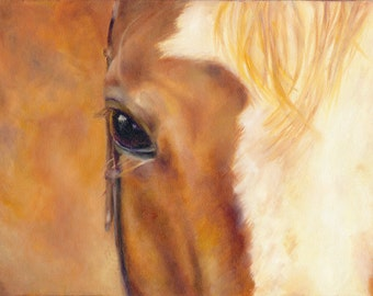 Horse Painting, Giclee print on Canvas