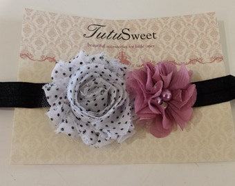 Chiffon flower headband newborn toddler baby