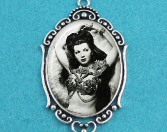 Burlesque Dancer Sherry Britton Pendant Necklace