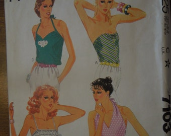 McCalls 7103, misses, teens, womens tops, sewing pattern, craft supplies, size 12