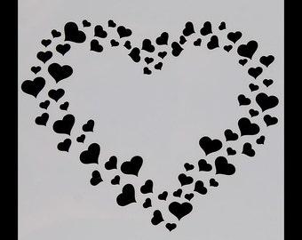 Heart cookie stencil | Etsy