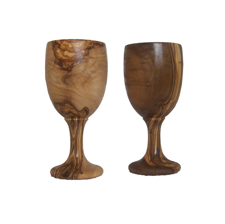 bicchiere di vino 2 bicchieri di vino di legno di