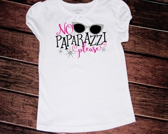 No paparazzi please tshirt//girls//toddler//2t//3t//4t//5t//6x