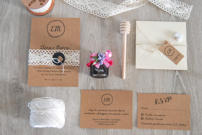 Partecipazioni Matrimonio Stile Rustico : Pdf partecipazioni di matrimonio kraft suite grafica