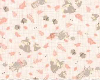 Lullaby Woodland Critters Peach by Kate & Birdie for Moda, 1/2 yard, 13151 18